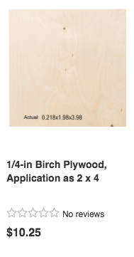 Plywood from Department Store